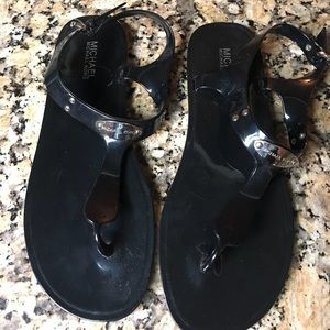 Michael Kors Black Jelly Sandals Size 10